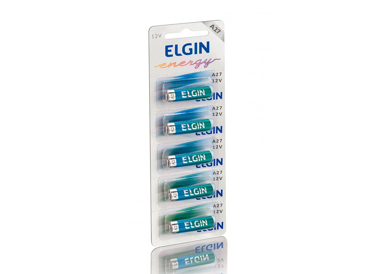 Pilha Alcalina A27, Cartela Com 5 Unidades, Elgin - 82196