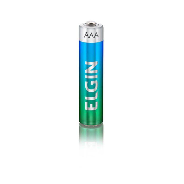 Pilha Alcalina AAA LR03, Blister Com 2 Unidades, Elgin - 82154