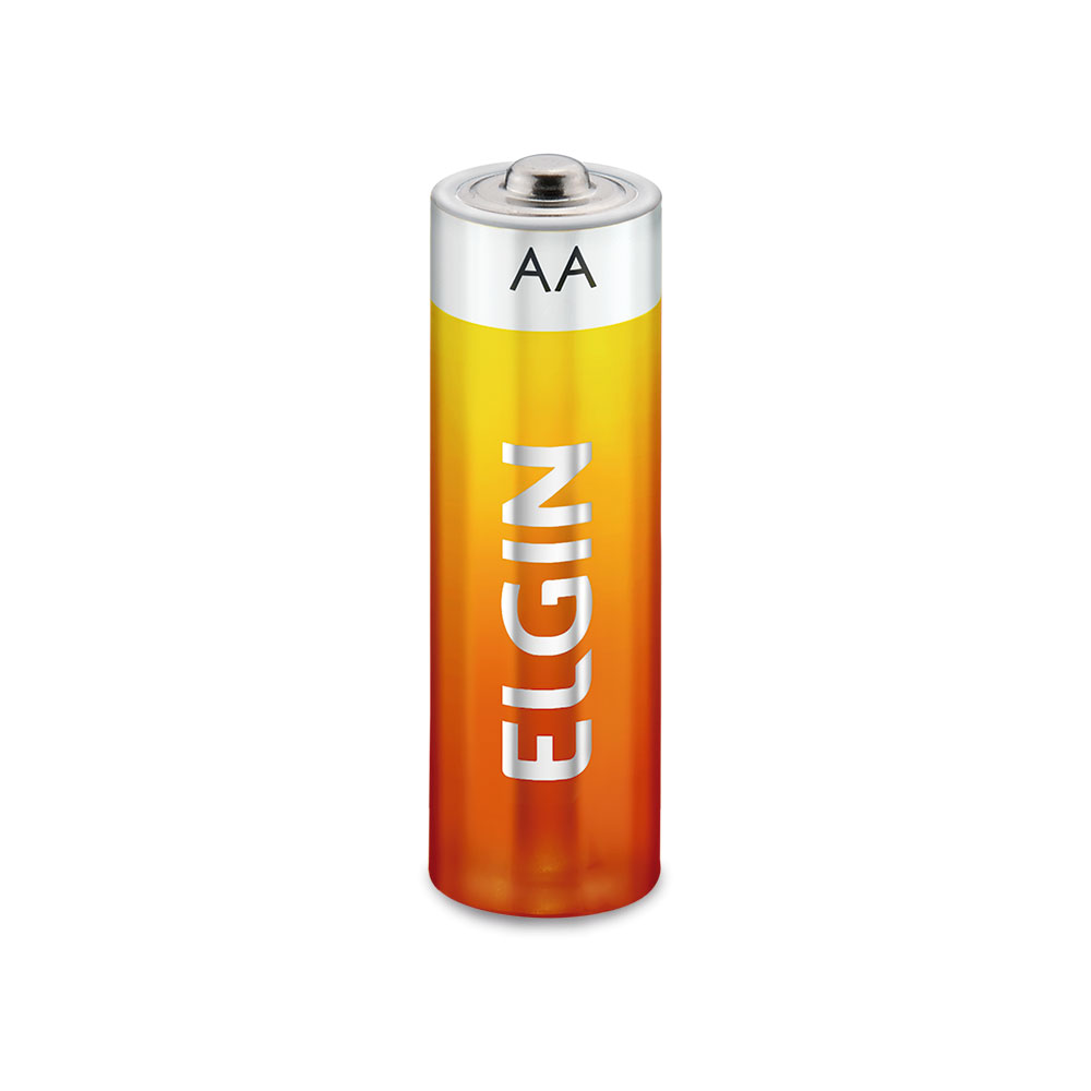 Pilha R06P Zinco / Carvão AA, Caixa Com 15 Blister de 4 Pilhas, Elgin - 82185
