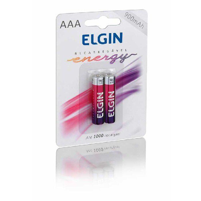 Pilha Recarregável AAA 900MAH, Blister Com 2 Unidades, Elgin - 82168