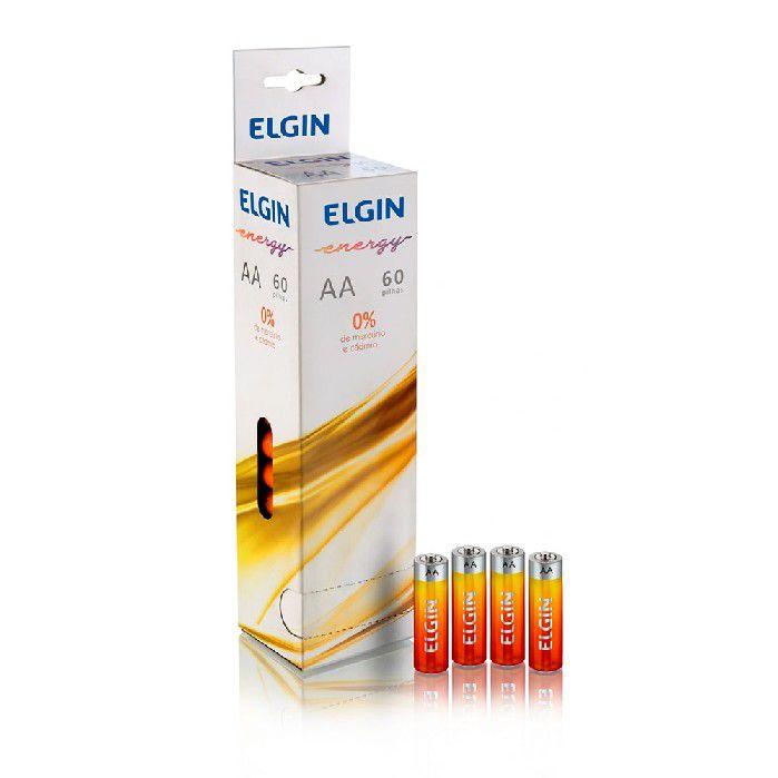 Pilha Zinco/Carvao Elgin AA R06 C/60-un Shrincado (15 Blister C/4) - 82185