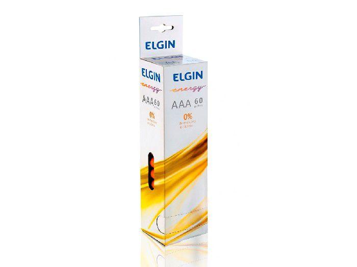 Pilha Zinco / Carvão R03P AAA, Caixa Com 15 Blister de 4 Unidades, Elgin - 82239