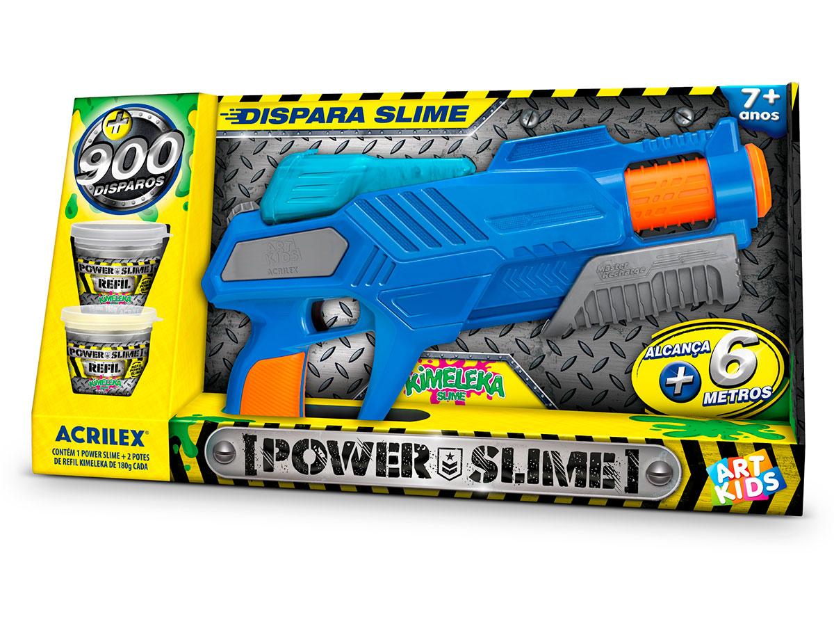 Pistola Power Slime Azul, Acrilex - 400630559