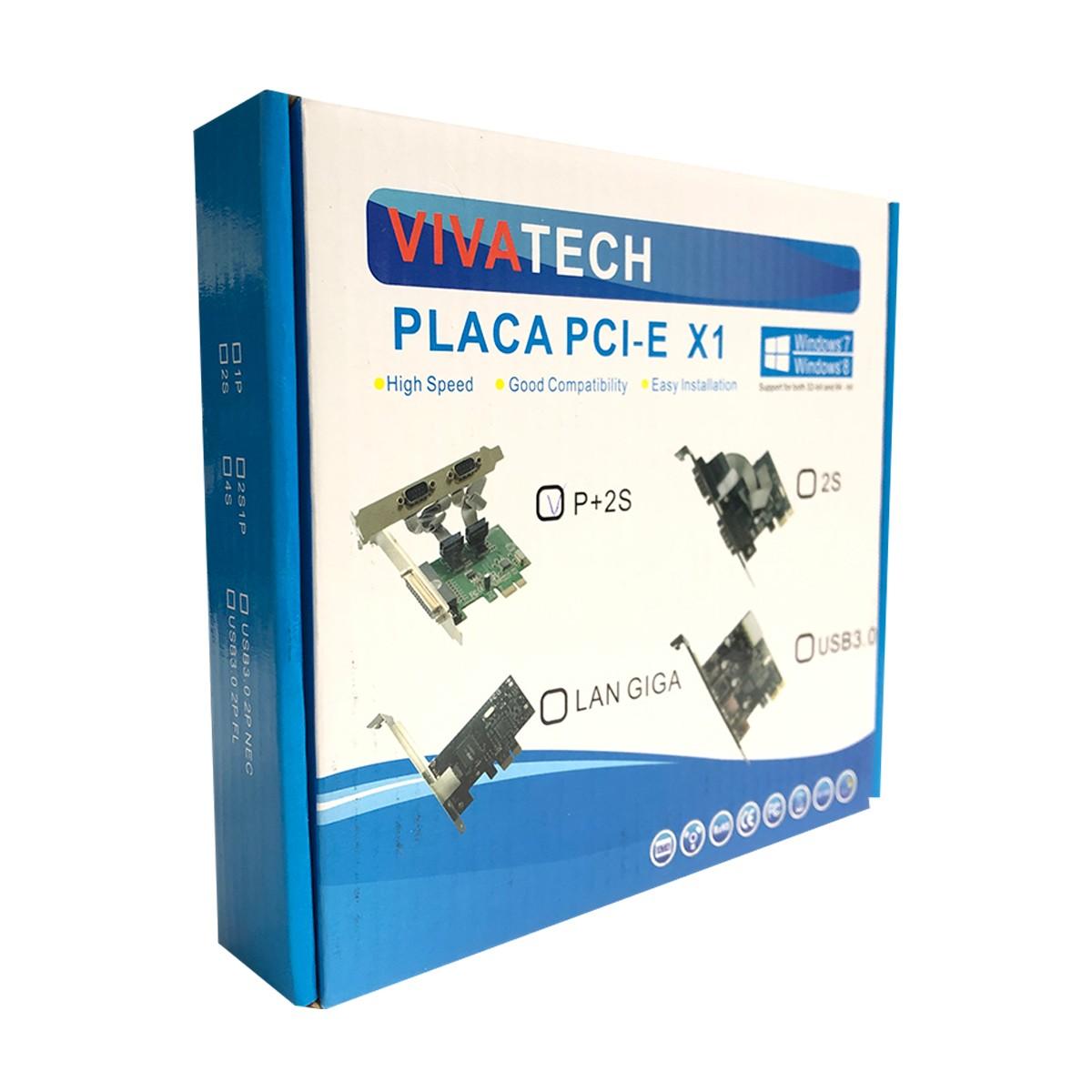 Placa Controladora PCI-E GV Brasil PCI.18301, 2 Seriais + 1 Paralela