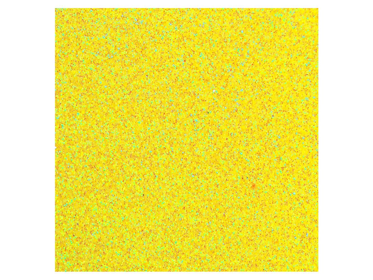 Placa de E.V.A. Glitter 2.0 mm, 40 x 60 cm, Pacote c/ 5 Folhas - Make+ - Amarelo Neon