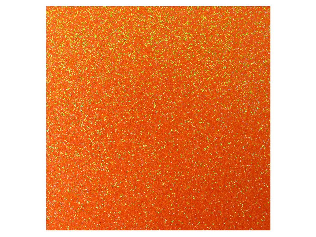 Placa de E.V.A. Glitter 2.0 mm, 40 x 60 cm, Pacote c/ 5 Folhas, Make+ - Laranja Neon