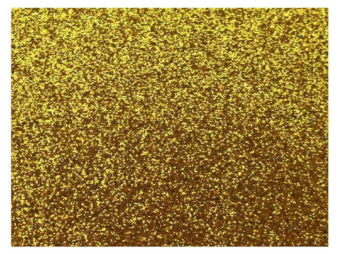 Placa de E.V.A. Glitter 2.0 mm, 40 x 60 cm, Pacote c/ 5 Folhas - Make+ - Ouro