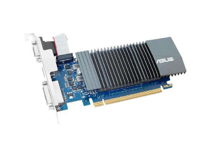 Placa de Vídeo 1GB Asus Geforce GT 710 DDR5 64 Bits - GT710-SL-1GD5