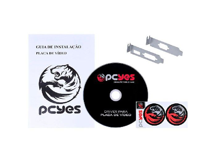 Placa de Vídeo 1GB Pcyes G210 DDR3 64 PA210G6401D3LP