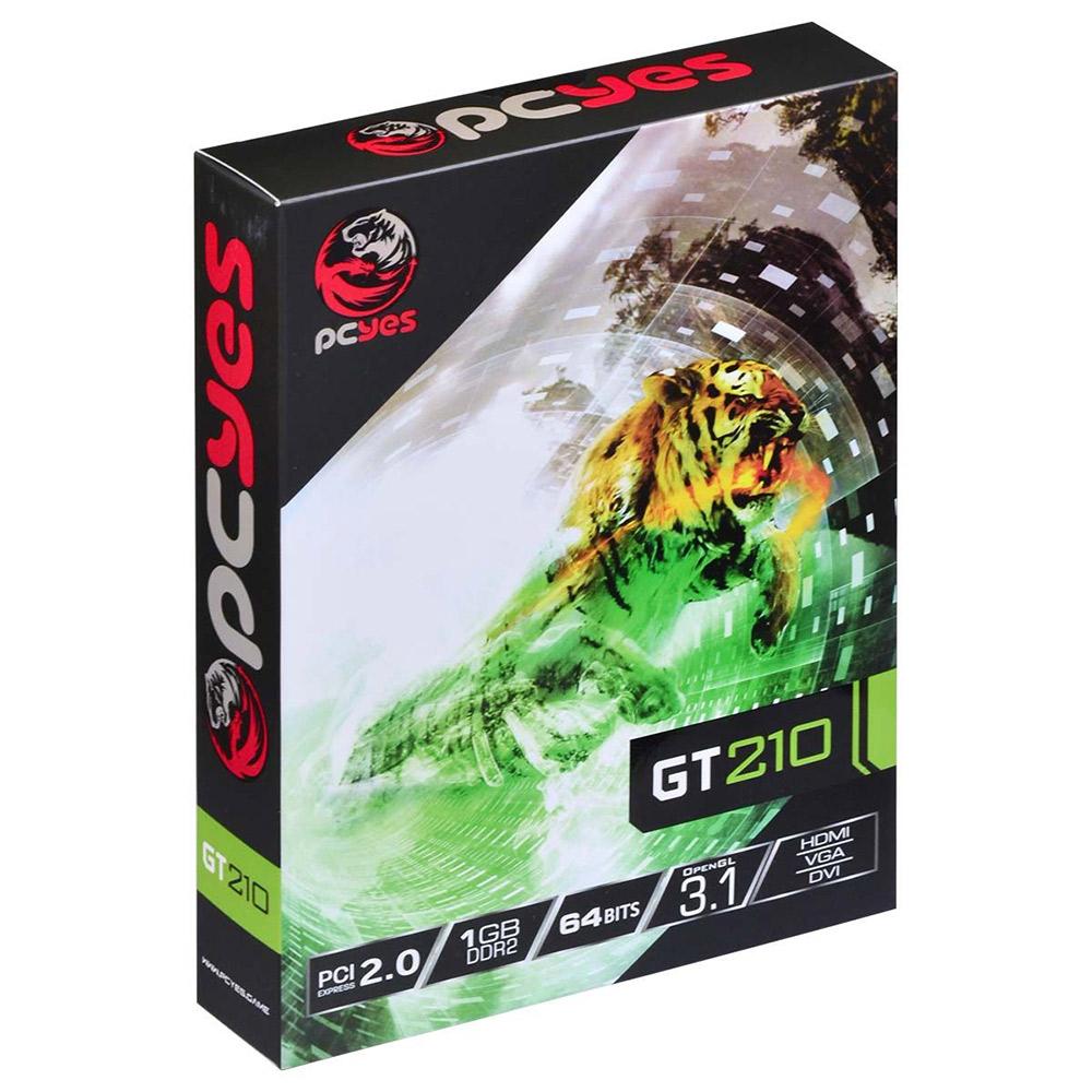 PLACA DE VIDEO 1GB PCYES GT210  PPV210GT6401D2LP