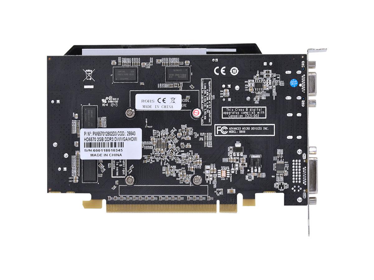 Placa de Video 2GB 6570 Pcyes DDR3 128Bit PW657012802D3