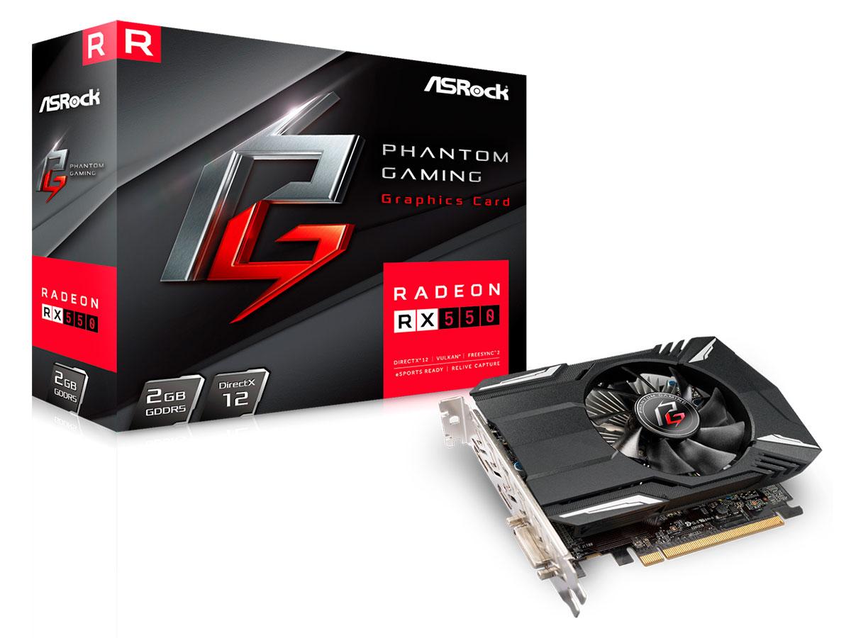 Placa de Video 2gb Asrock Radeon Rx 550 Ddr5 128 Bits