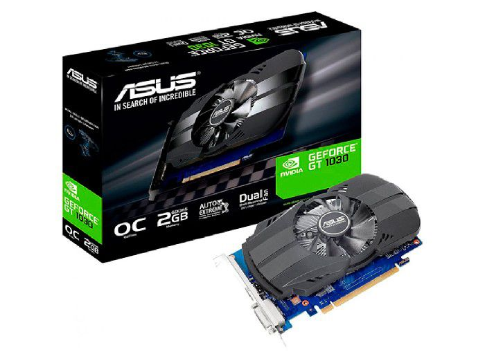 Placa de Video 2GB Asus Geforce GT 1030 Oc Phoenix DDR5 64Bits PH-GT1030-O2G