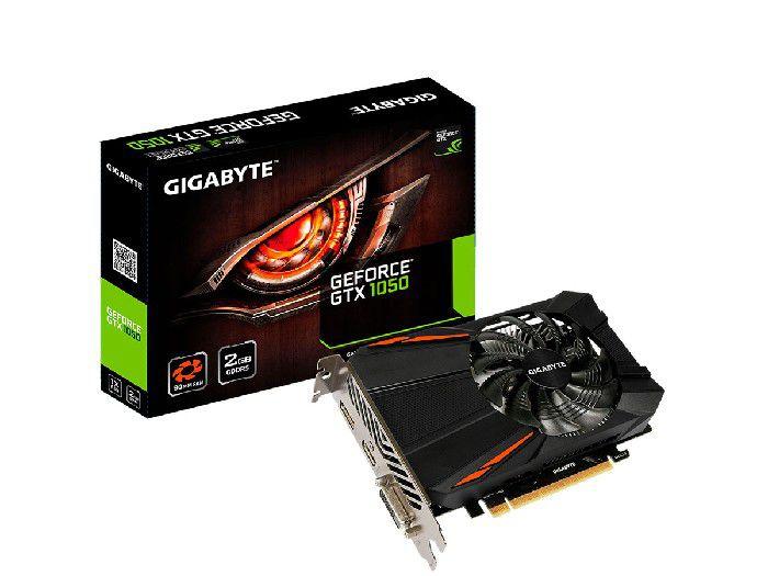 Placa de Video 2GB Gigabyte GTX1050 DDR5 GV-N1050D5-2GD