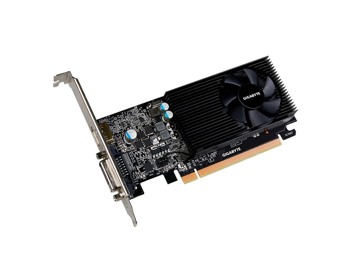 Placa de Video 2GB GT1030 GDDR5 Low Profile Gigabyte GV-N1030D5-2GL