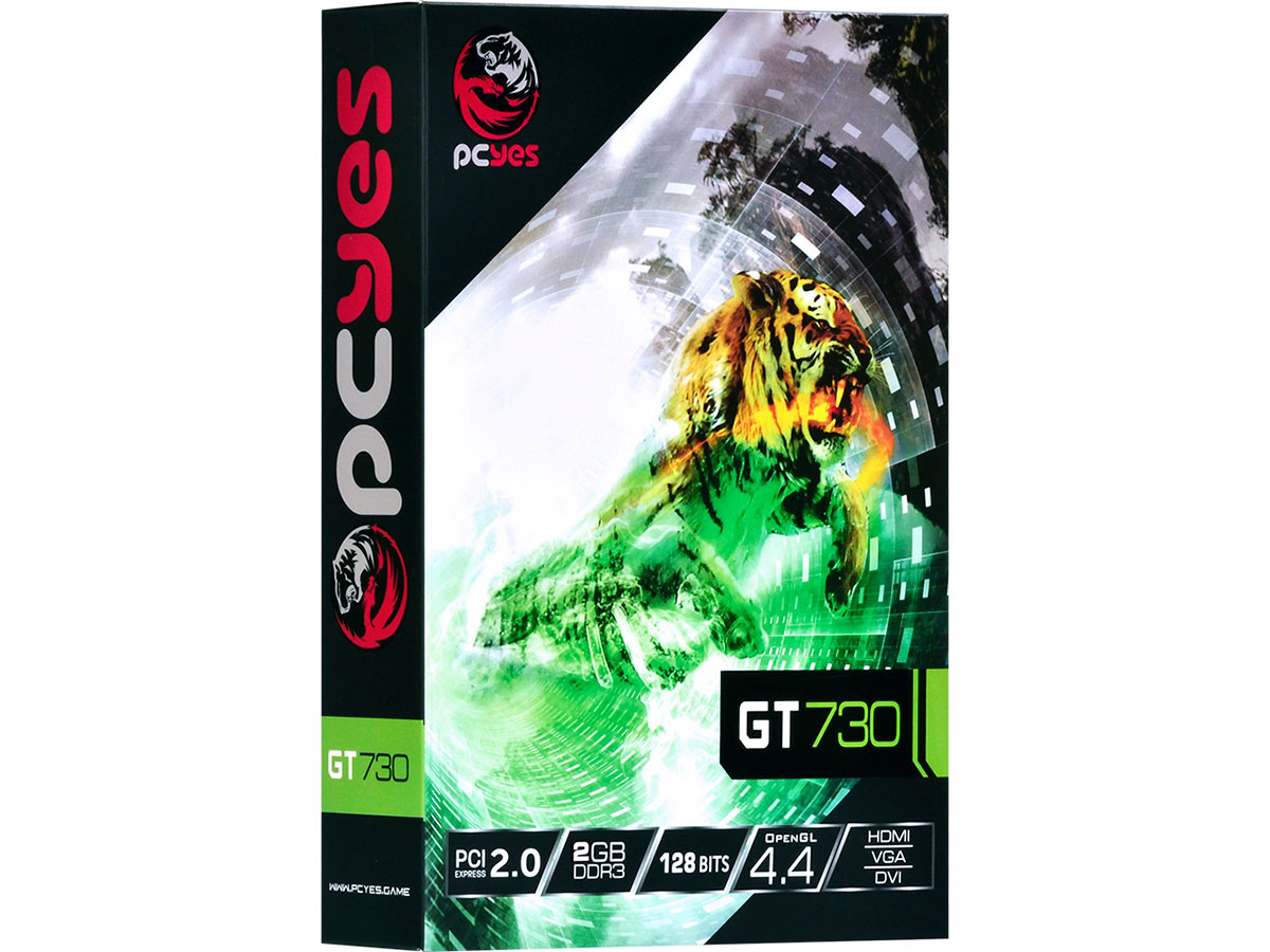 Placa de Video 2GB GT730 Pcyes DDR3 PW730GT12802D3LP