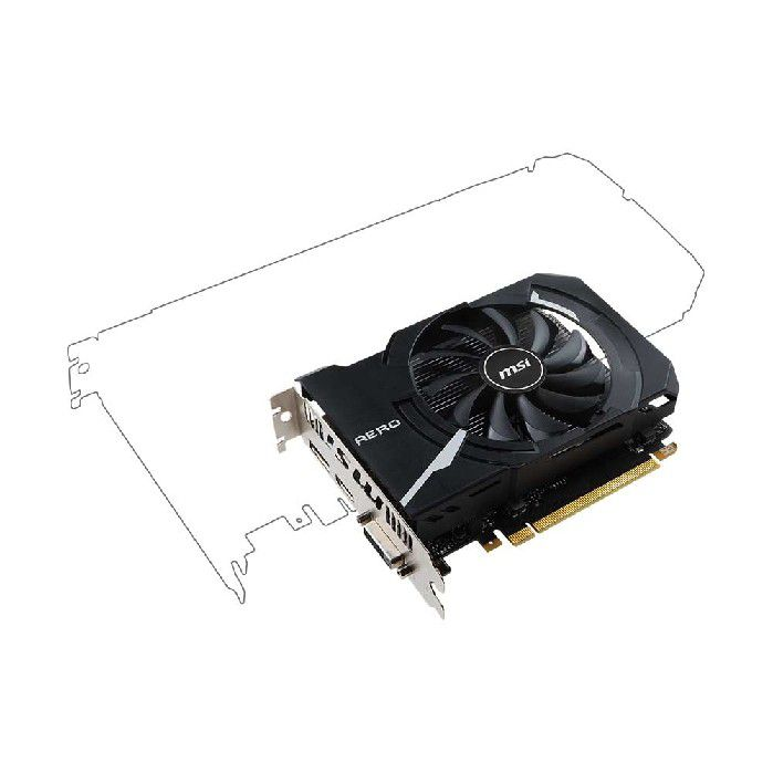Placa de Video 2gb Msi Geforce Gtx1050 Aero Itx Oc Ddr5