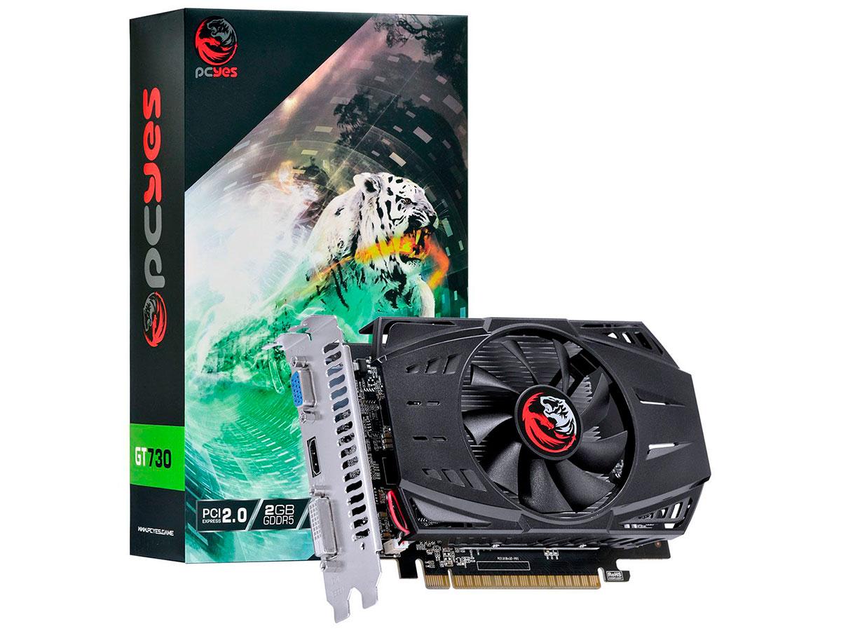 Placa de Vídeo 2GB Pcyes GT730 GDDR5 64 PA730GT6402G5