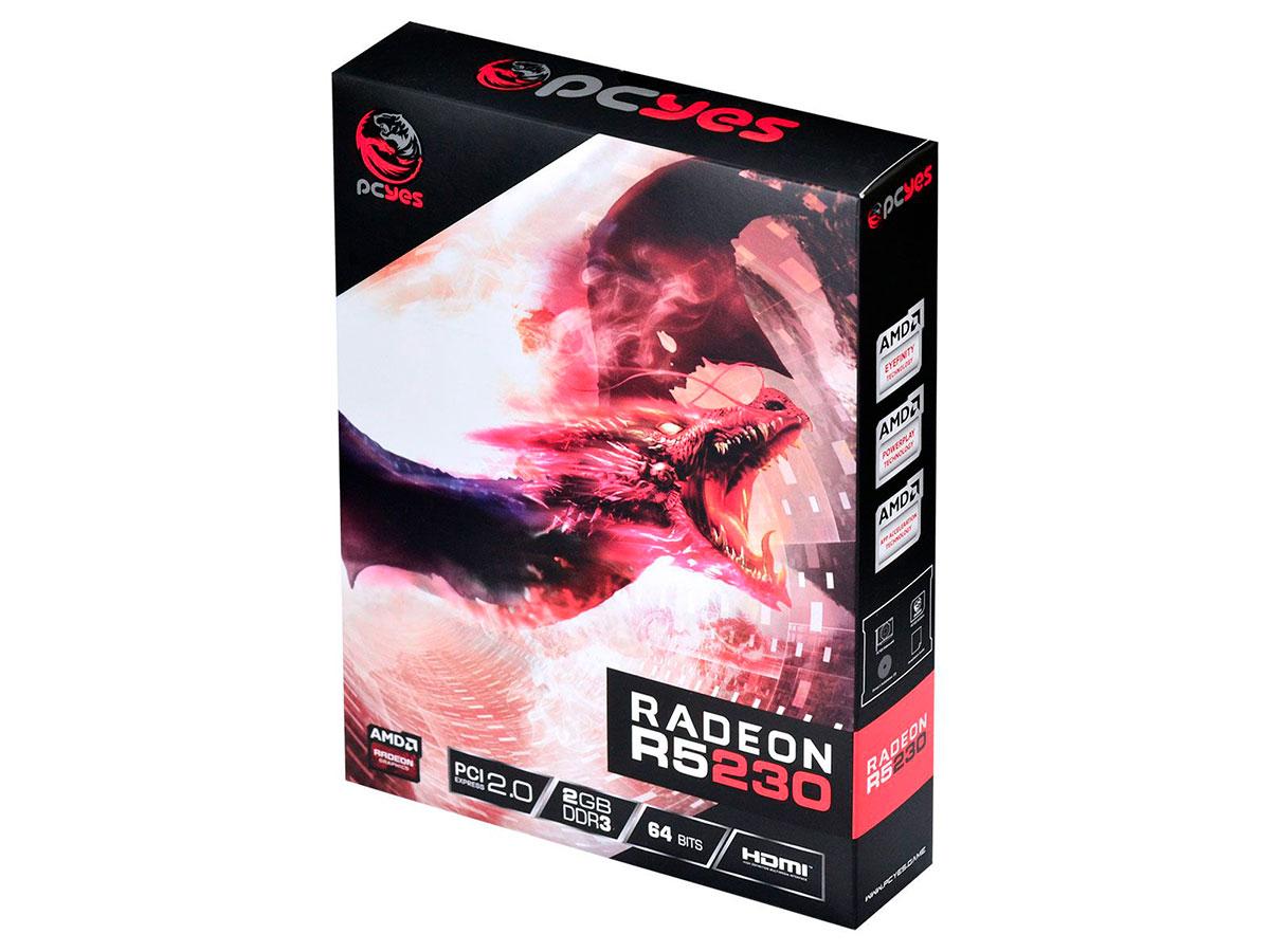 Placa de Vídeo 2GB Pcyes R5 230 DDR3 64 PA230R56402D3LP