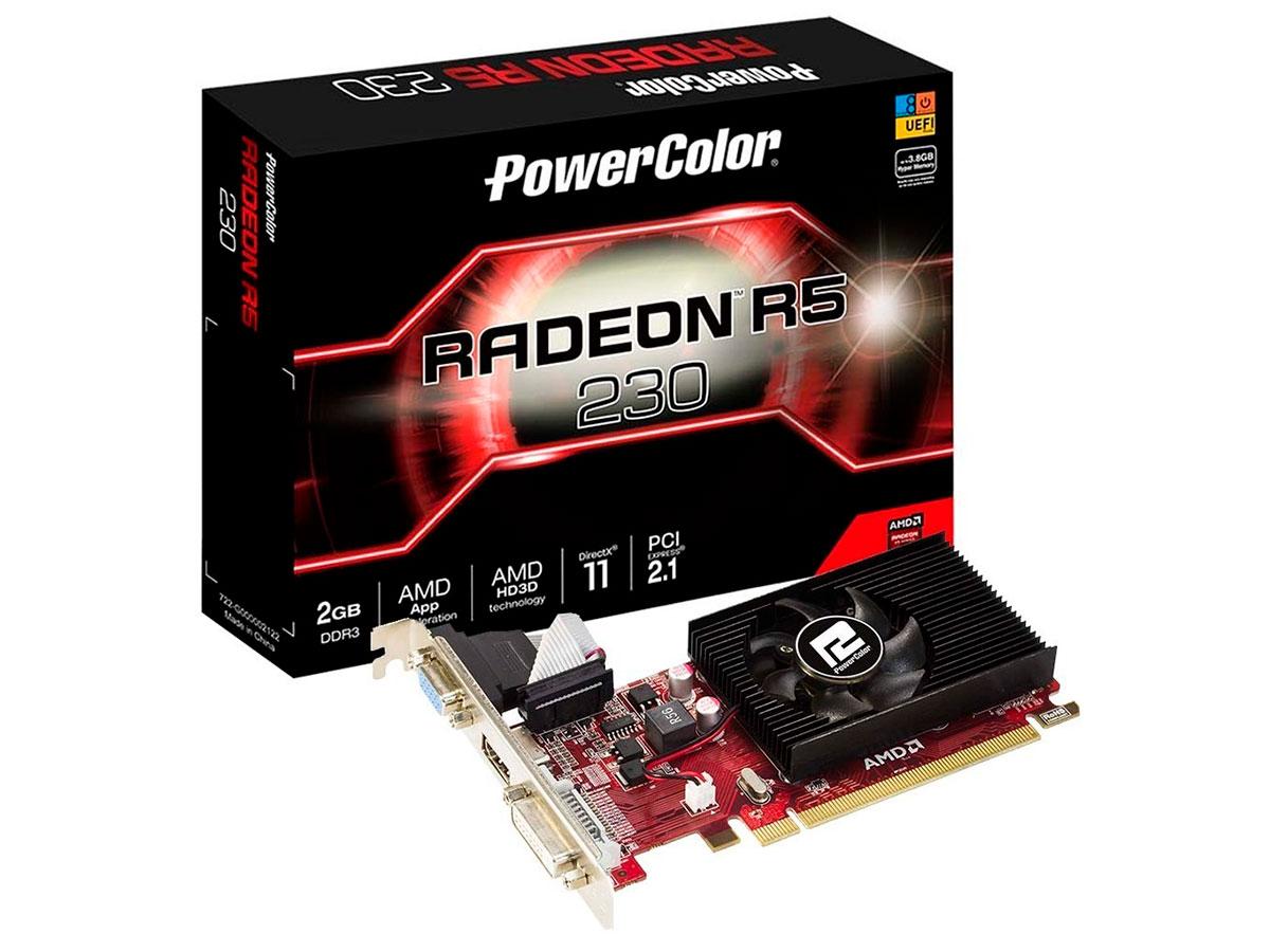 Placa de Video 2gb Power Color R5 230 Ddr3 64bits Axr5 230 2gbk3-he