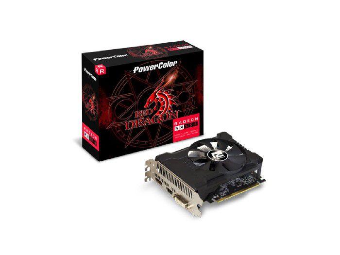 Placa de Video 2gb Power Color Rx 550 Red Dragon Axrx 550 2gbd5-dha/oc