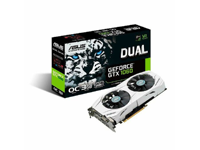 Placa de Video 3GB Asus Geforce GTX 1060 Oc Dual DDR5 192Bits - DUAL-GTX1060-O3G