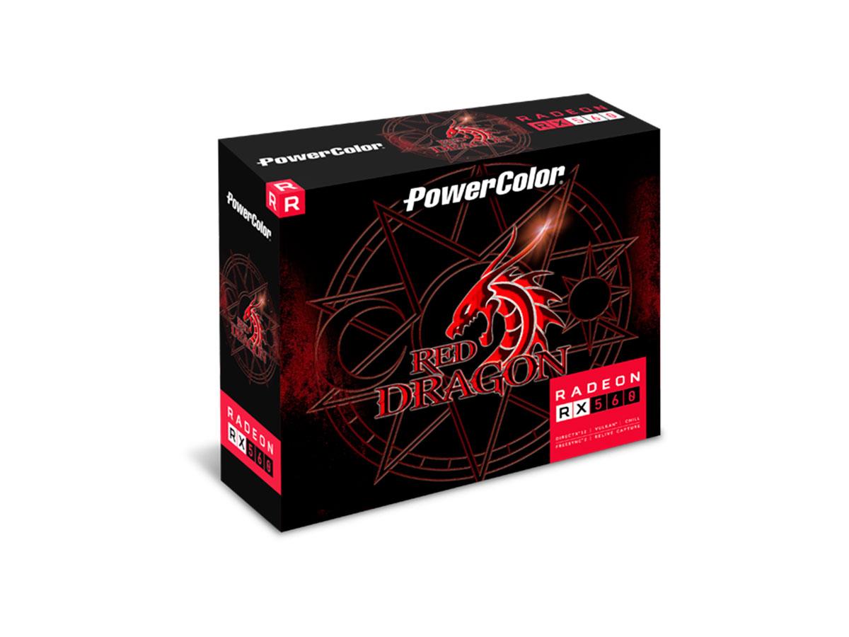 Placa de Video 4GB AMD RX 560 Red Dragon Power Color AXRX 560 4GBD5-DHA
