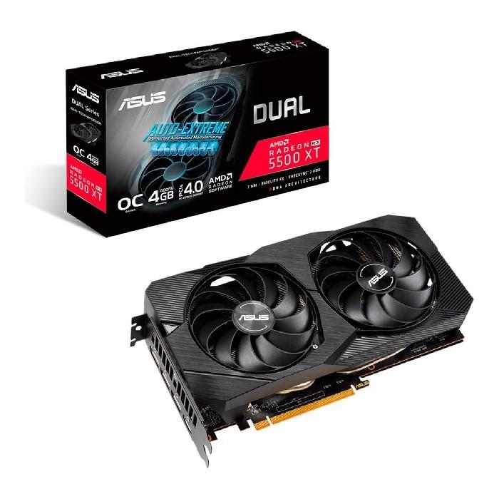 Placa de Vídeo 4GB Asus Radeon RX 5500 XT, GDDR6, 128 Bits, PCI-E 4.0 - DUAL RX5500XT-O4G-EVO