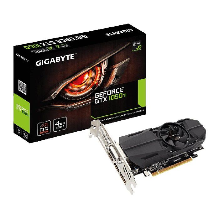 Placa de Vídeo 4GB Gigabyte GTX1050TI OC Low Profile DDR5 GV-N105TOC-4GL