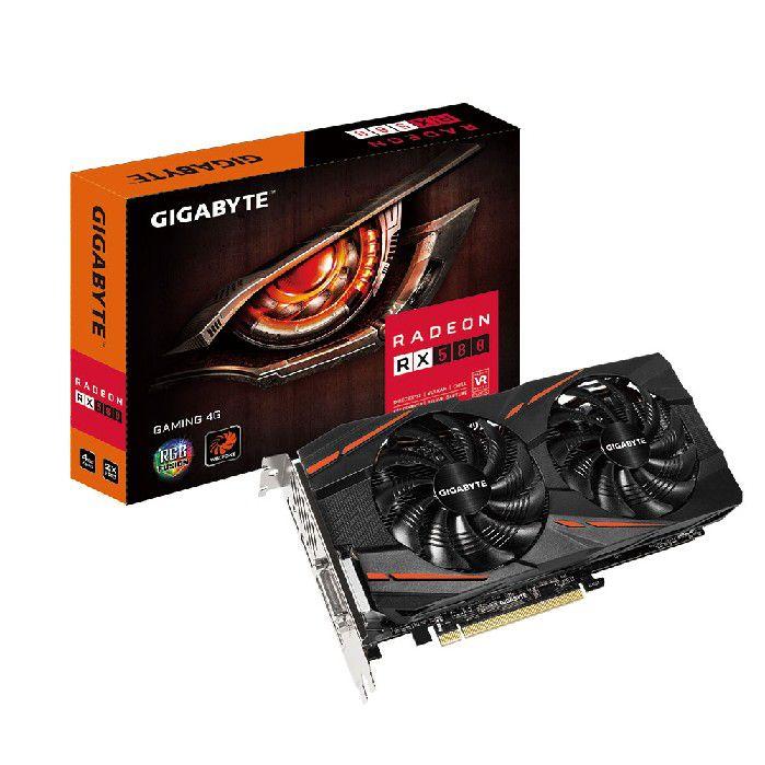 Placa de Video 4gb Gigabyte Radeon Rx580 Gaming Ddr5 256 Bits Gv-rx580gaming-4gd