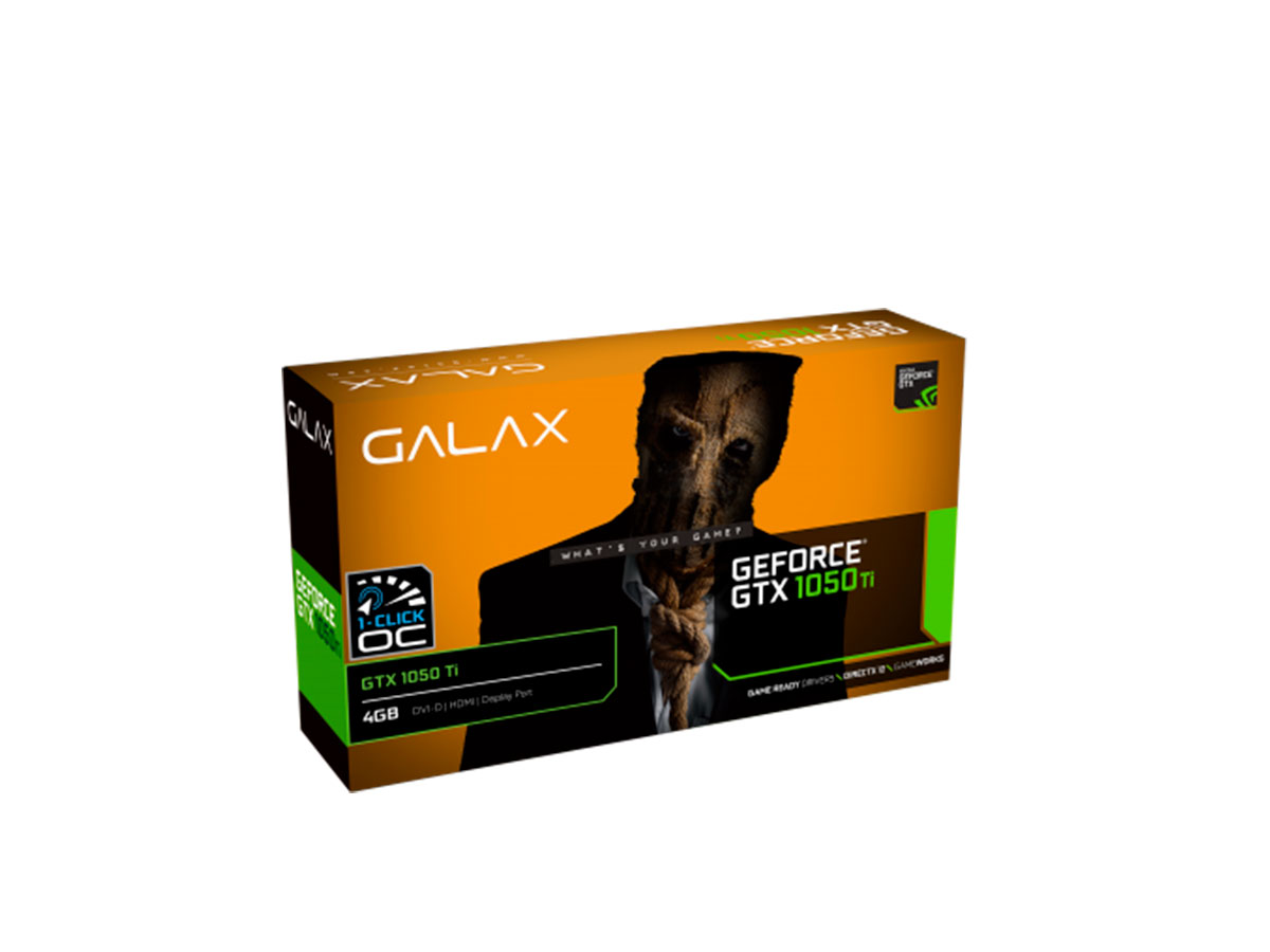 Placa de Video 4GB GTX1050TI 1Click OC G5 128B Galax 50IQH8DSC7CB