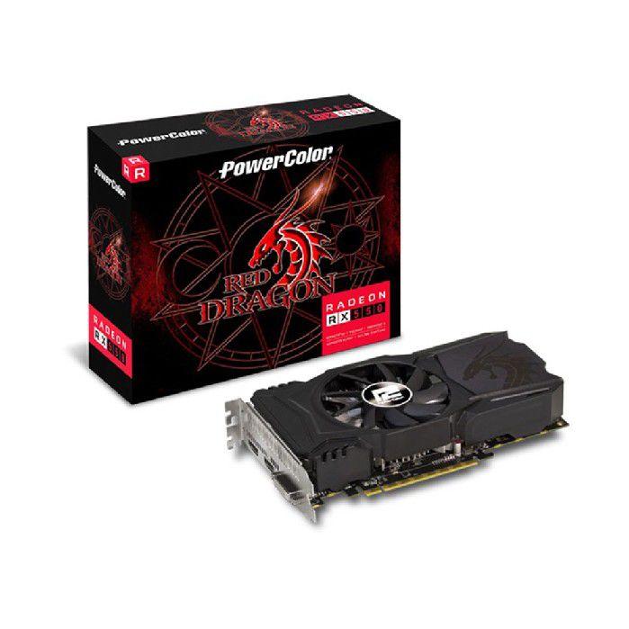 Placa de Video 4gb Power Color Rx550 Ddr5 128bit AXRX 550 4GBD5-DHA