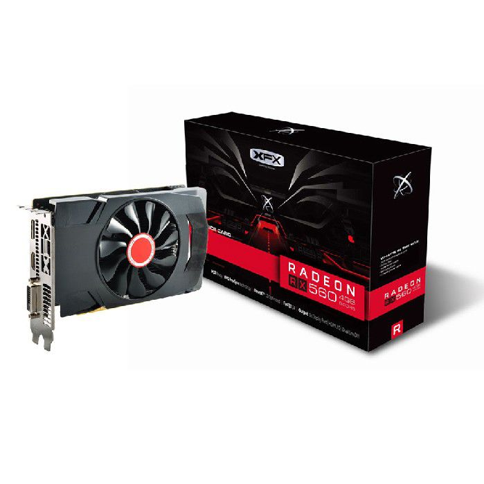 Placa de Video 4gb Xfx Rx 560d Radeon Ddr5 1196mhz Core Dp Rx-560d4sfg5