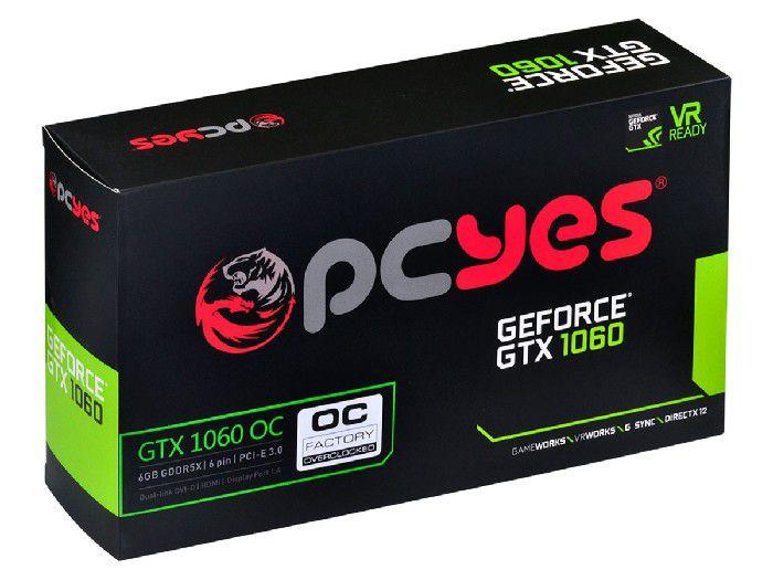 Placa de Video 6gb Pcyes Gtx 1060  - 60nrj7dsx1py