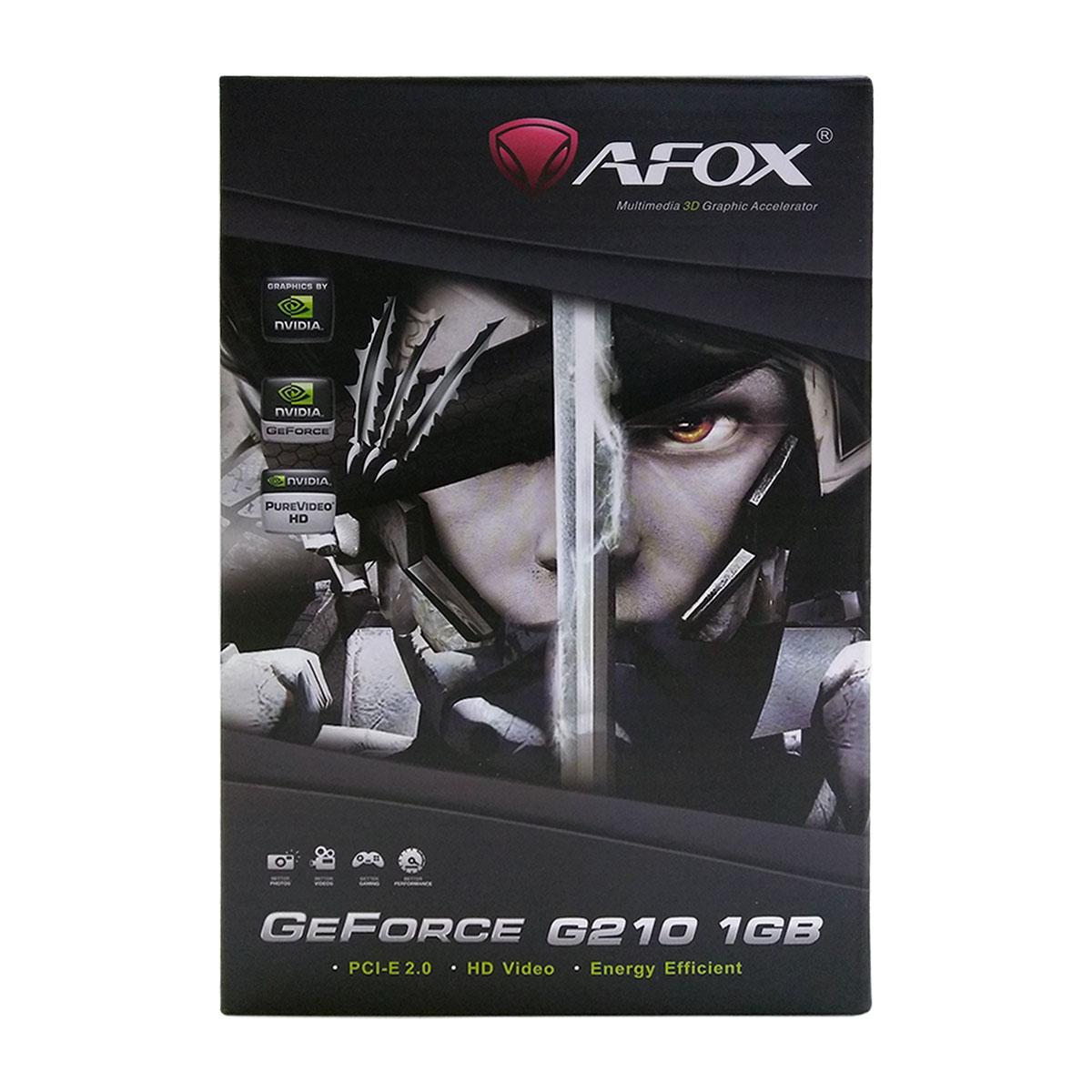 Placa de Vídeo AFOX GeForce 210, 1GB, DDR3, 64 Bits, Low Profile, HDMI/DVI/VGA - AF210-1024D3L5-V2