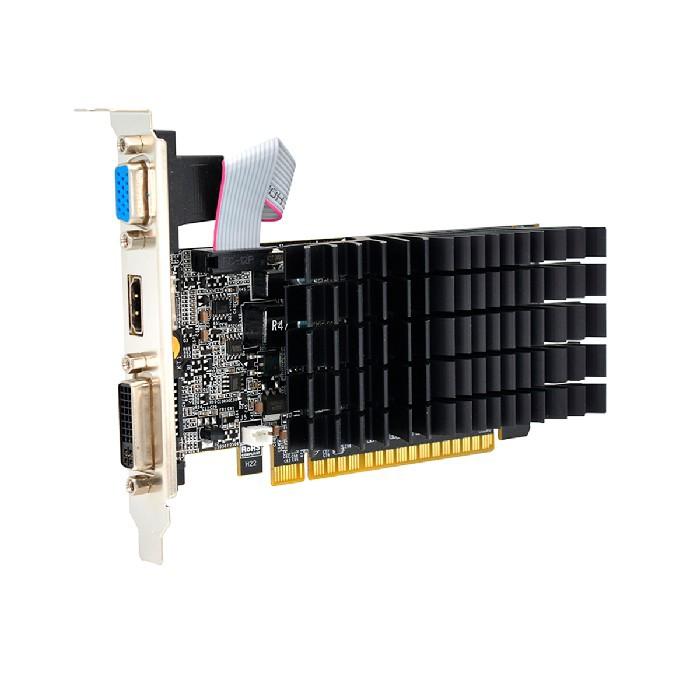 Placa de Vídeo AFOX Geforce G210, 1GB,  DDR3, 64 Bits Low Profile, HDMI/DVI/VGA - AF210-1024D3L5-V3
