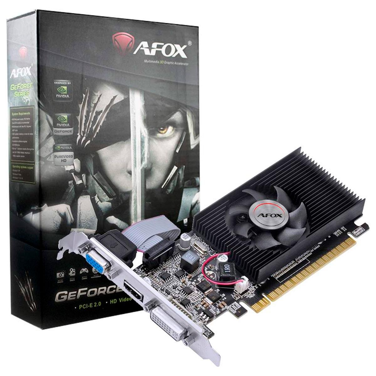 Placa de Vídeo Afox GeForce GT210, 1GB, DDR3, 64 Bits