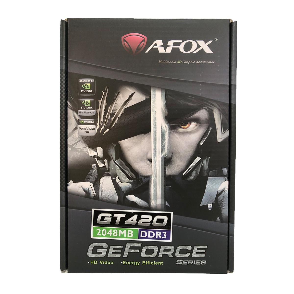 Placa de Vídeo Afox Geforce GT420 2GB DDR3 128 Bits Low Profile HDMI/DVI/VGA - AF420-2048D3L2-V2