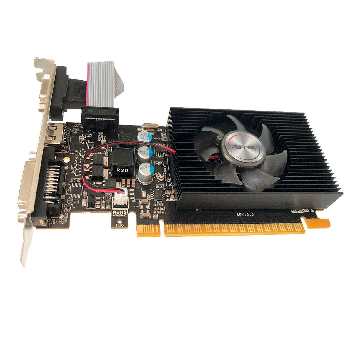 Placa de Vídeo AFOX Geforce GT420 2GB DDR3 128 Bits Low Profile HDMI/DVI/VGA - AF420-2048D3L5