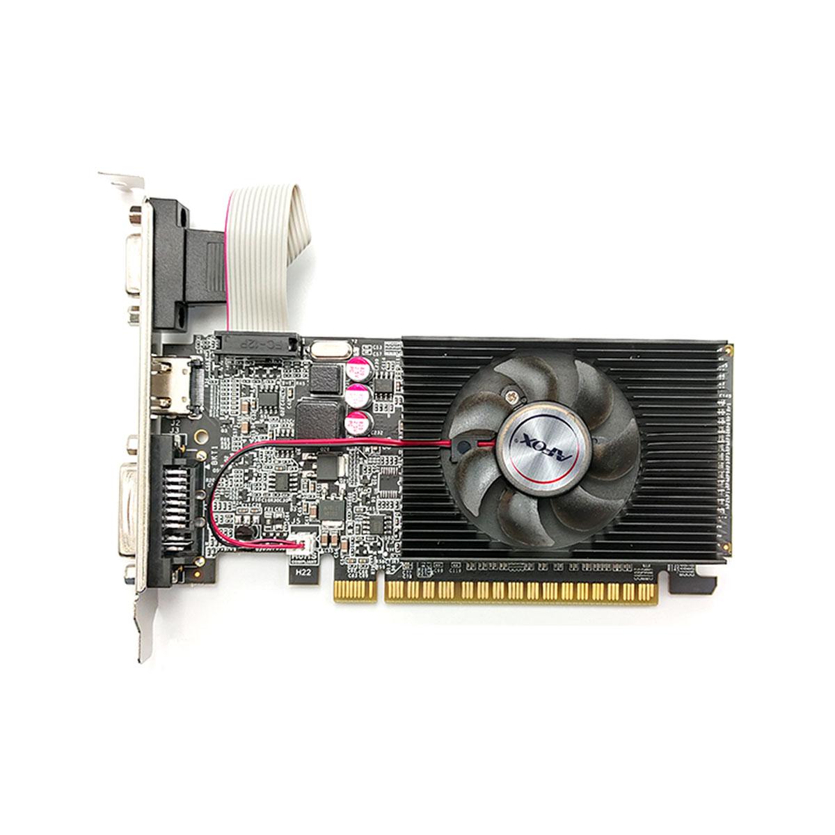 Placa de Vídeo Afox GeForce GT610 2GB, DDR3, 64 Bits, Low Profile, HDMI/DVI/VGA - AF610-2048D3L7-V5