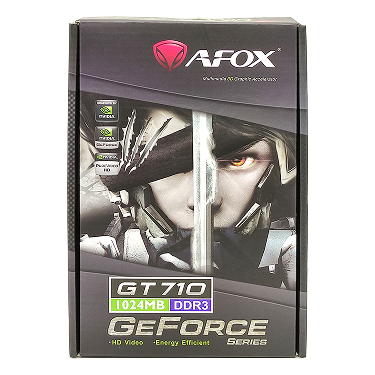 Placa de Vídeo Afox GeForce GT710 1GB, DDR3, 64 Bits, Low Profile, HDMI/DVI/VGA - AF710-1024D3L8-V2