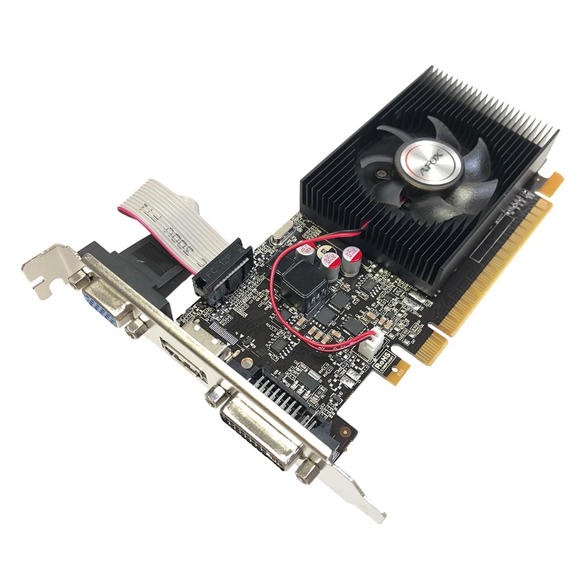 Placa de Vídeo Afox GeForce GT730 2GB, DDR3, 128 Bits, Low Profile, HDMI/DVI/VGA - AF730-2048D3L4-V1