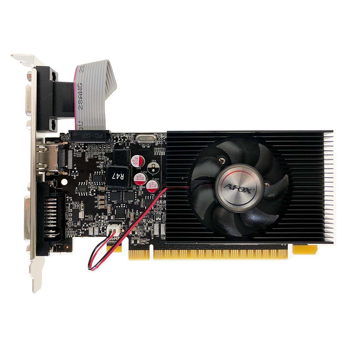 Placa de Vídeo Afox GeForce GT730 4GB, DDR3, 128 Bits, Low Profile, HDMI/DVI/VGA - AF730-4096D3L5
