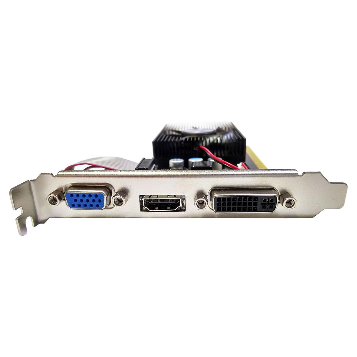 Placa de Vídeo AFOX GeForce GT 730, 2GB, DDR3, 128 Bits, Low Profile, HDMI/DVI/VGA - AF730-2048D3L6