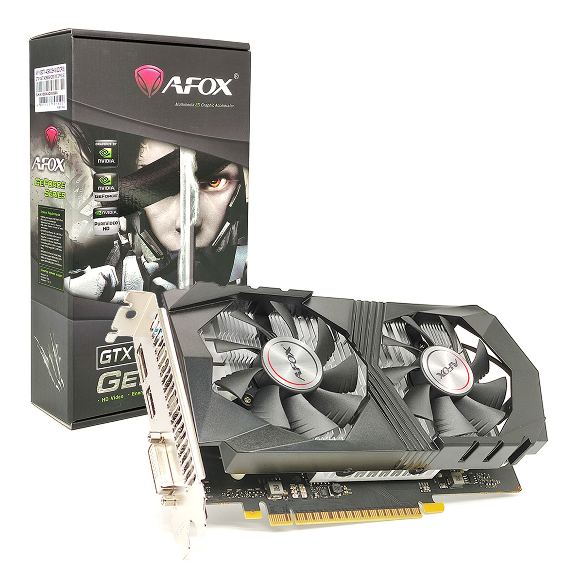 Placa de Vídeo Afox GeForce GTX 1050 TI, 4GB, DDR5, 128 Bits, HDMI/DVI/DP - AF1050TI-4096D5H5