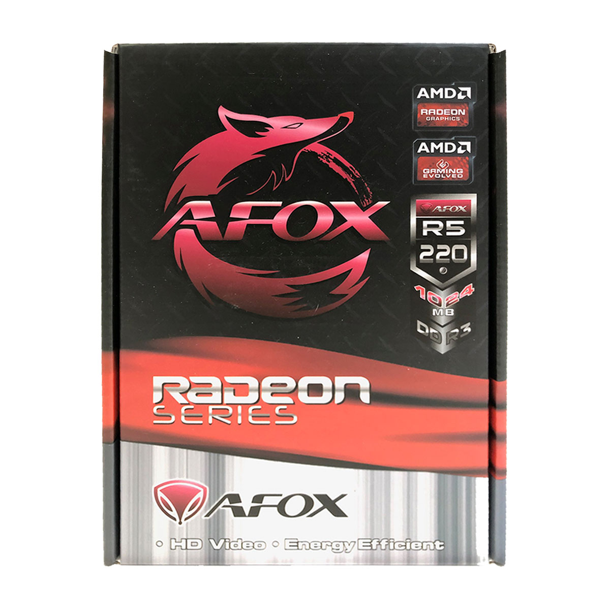 Placa de Vídeo AFOX Radeon R5 220, 1GB, DDR3, 64 Bits, Low Profile, HDMI/DVI/VGA - AFR5220-1024D3L5