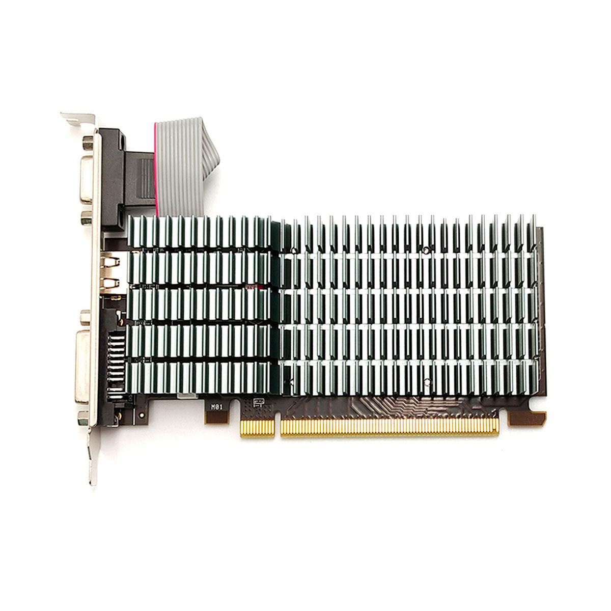 Placa de Vídeo AFOX Radeon R5 220 2GB DDR3, 64 Bits, Low Profile, HDMI/DVI/VGA - AFR5220-2048D3L5-V2