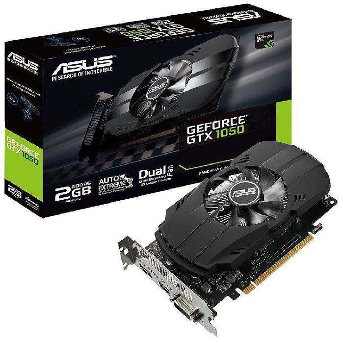 Placa de Video Asus Geforce Gtx 1050 2GB Ddr5 128bits - Ph-gtx1050-2g