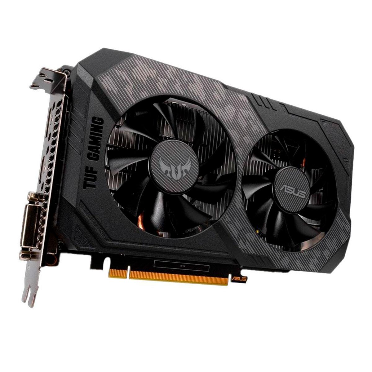 Placa de Vídeo Asus GeForce GTX 1650 TUF Gaming OC, 4GB GDDR6, 128 Bits - TUF-GTX1650-O4GD6-P-GAMING
