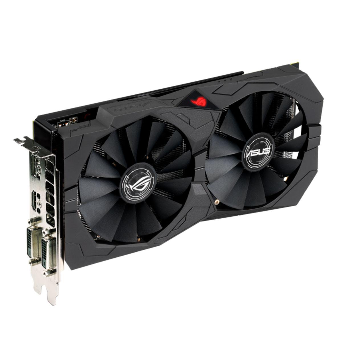 Placa de Vídeo Asus ROG Strix Radeon RX570 OC 8GB, DDR5, 256 Bits - ROG-STRIX-RX570-O8G-GAMING